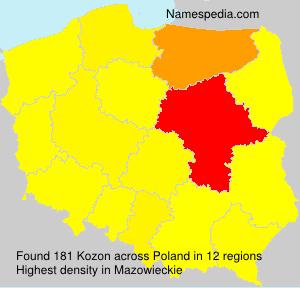 Familiennamen Kozon - Poland