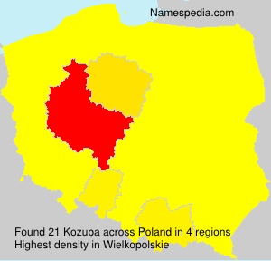 Surname Kozupa in Poland