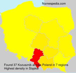Surname Kozusznik in Poland
