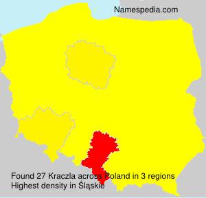 Surname Kraczla in Poland