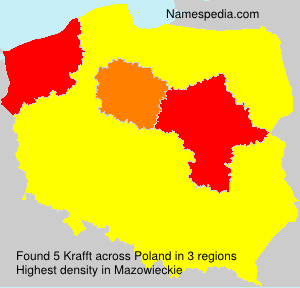 Surname Krafft in Poland