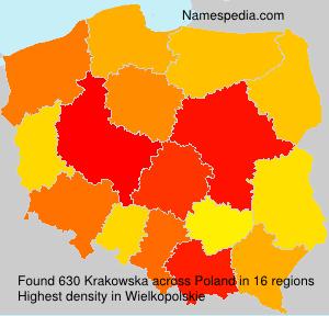 Familiennamen Krakowska - Poland