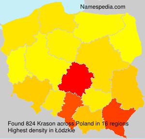Surname Krason in Poland