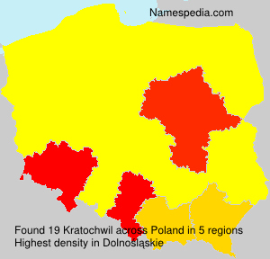 Surname Kratochwil in Poland