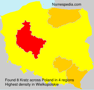 Familiennamen Kratz - Poland