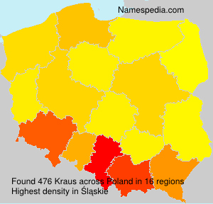 Surname Kraus in Poland