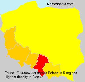 Surname Krautwurst in Poland