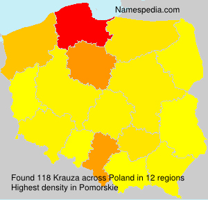 Surname Krauza in Poland