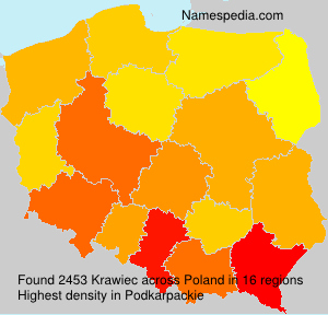 Surname Krawiec in Poland