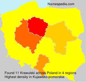 Familiennamen Krawulski - Poland