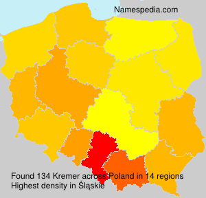 Surname Kremer in Poland