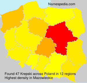 Surname Krepski in Poland