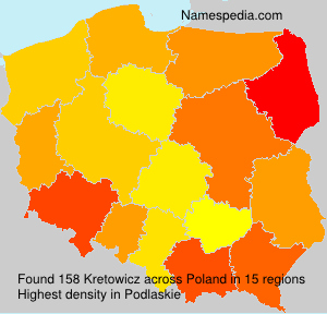 Surname Kretowicz in Poland
