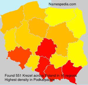 Surname Krezel in Poland