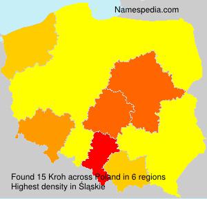 Familiennamen Kroh - Poland