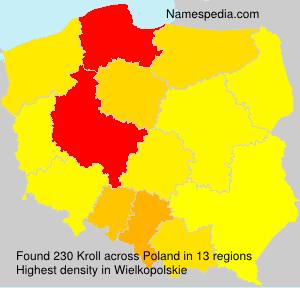 Familiennamen Kroll - Poland
