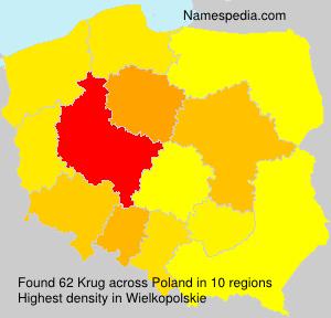 Surname Krug in Poland