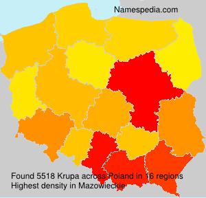 Surname Krupa in Poland
