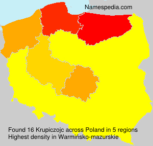 Surname Krupiczojc in Poland