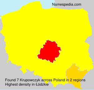 Surname Krupowczyk in Poland