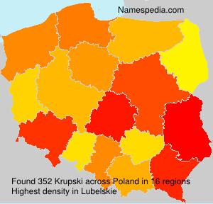 Familiennamen Krupski - Poland