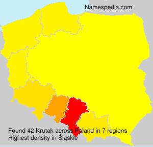 Surname Krutak in Poland