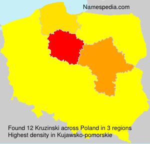 Surname Kruzinski in Poland