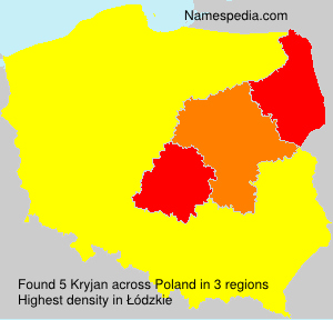 Familiennamen Kryjan - Poland
