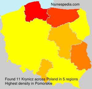 Surname Krynicz in Poland