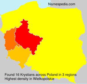 Surname Krystians in Poland