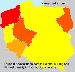 Surname Kryszczunas in Poland
