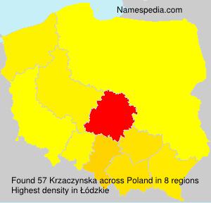 Surname Krzaczynska in Poland