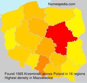 Familiennamen Krzeminski - Poland