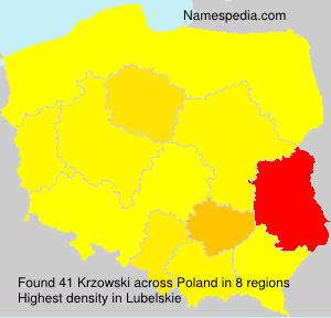 Surname Krzowski in Poland