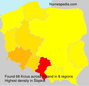Surname Krzus in Poland