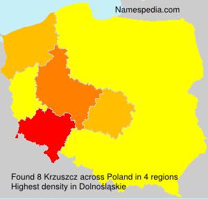 Surname Krzuszcz in Poland