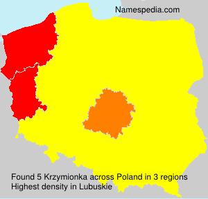 Surname Krzymionka in Poland