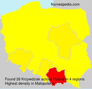 Surname Krzywdziak in Poland