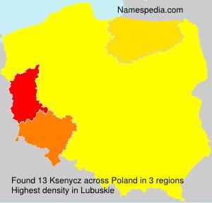 Surname Ksenycz in Poland