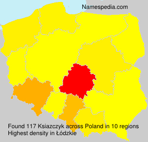 Surname Ksiazczyk in Poland