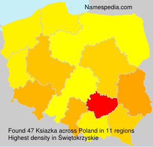 Surname Ksiazka in Poland
