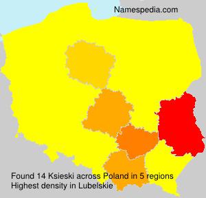 Surname Ksieski in Poland