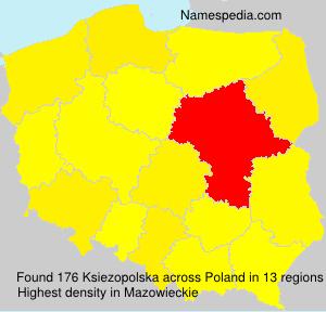 Surname Ksiezopolska in Poland