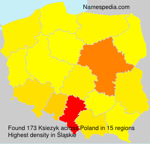 Surname Ksiezyk in Poland