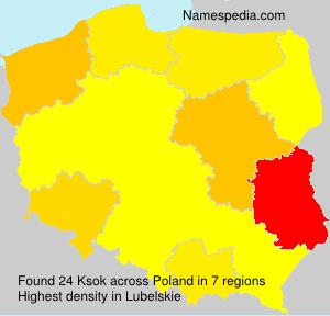 Surname Ksok in Poland