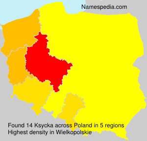 Surname Ksycka in Poland