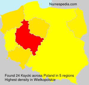 Surname Ksycki in Poland