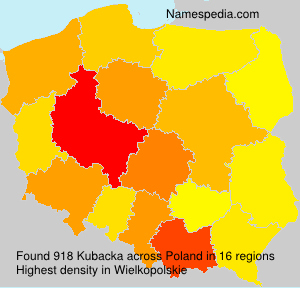 Surname Kubacka in Poland