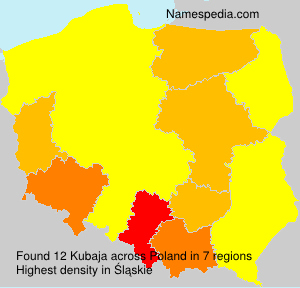 Surname Kubaja in Poland