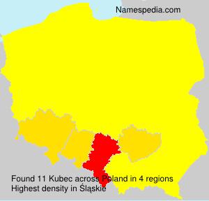 Familiennamen Kubec - Poland